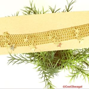 5/$25 NEW American Eagle faux gold stars choker